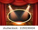 3d render marquee light... | Shutterstock . vector #1150230434
