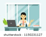 medicine concept with doctor in ... | Shutterstock .eps vector #1150231127