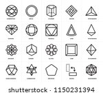 set of 20 icons such as... | Shutterstock .eps vector #1150231394