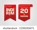 indirim etiketleri yazilari.... | Shutterstock .eps vector #1150233671