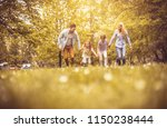 family spending time together... | Shutterstock . vector #1150238444