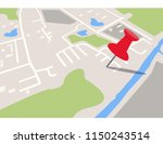 city navigation map with pins | Shutterstock .eps vector #1150243514