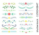 collection of hand drawn... | Shutterstock .eps vector #1150243847