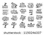 bundle of mermaid's cards.... | Shutterstock .eps vector #1150246337