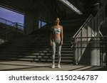 young woman exercise in urban... | Shutterstock . vector #1150246787