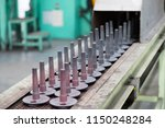 hot forging gear production line | Shutterstock . vector #1150248284