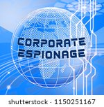 corporate espionage covert... | Shutterstock . vector #1150251167