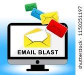 email blast newsletter... | Shutterstock . vector #1150251197