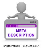 meta description website seo... | Shutterstock . vector #1150251314