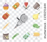 set of 13 simple editable icons ... | Shutterstock .eps vector #1150251644