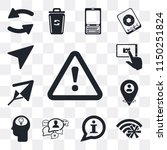 set of 13 simple editable icons ... | Shutterstock .eps vector #1150251824