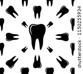 tooth icon  tooth seamless... | Shutterstock .eps vector #1150255934