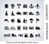 travel and transport buttons...