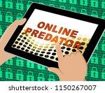 online predator stalking... | Shutterstock . vector #1150267007