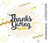 thanksgiving day. logo  text... | Shutterstock .eps vector #1150267634