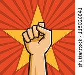 vector illustration of a fist... | Shutterstock .eps vector #115026841