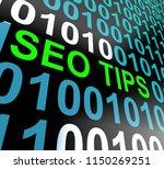 seo tips online ranking advice...   Shutterstock . vector #1150269251