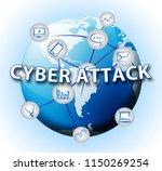 cyberattack malicious cyber...   Shutterstock . vector #1150269254