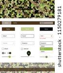 dark green  yellow vector web...