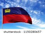 national flag of liechtenstein... | Shutterstock . vector #1150280657