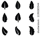 leaf icon set | Shutterstock .eps vector #1150285544