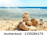 beautiful seashore vacation on... | Shutterstock . vector #1150286174