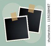 retro photo frames scrapbook... | Shutterstock .eps vector #1150288487