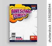 awesome comic book cover page... | Shutterstock .eps vector #1150288544