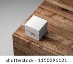 white box packaging mockup half ... | Shutterstock . vector #1150291121