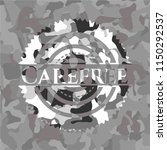 carefree on grey camo texture | Shutterstock .eps vector #1150292537
