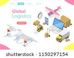 flat isometric vector concept... | Shutterstock .eps vector #1150297154