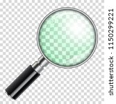3d realistic magnifying glass ... | Shutterstock .eps vector #1150299221