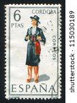 spain   circa 1968  stamp... | Shutterstock . vector #115030189
