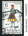 spain   circa 1968  stamp... | Shutterstock . vector #115030201