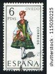 spain   circa 1969  stamp... | Shutterstock . vector #115030225