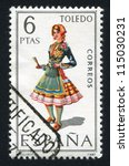 spain   circa 1970  stamp... | Shutterstock . vector #115030231