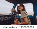 portrait of happy young woman... | Shutterstock . vector #1150303031
