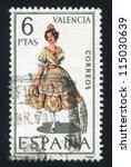 spain   circa 1971  stamp... | Shutterstock . vector #115030639