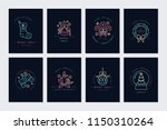 vector linear neon design... | Shutterstock .eps vector #1150310264