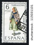 spain   circa 1970  stamp... | Shutterstock . vector #115031101