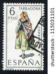 spain   circa 1970  stamp... | Shutterstock . vector #115031101
