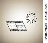 solar energy panel. eco trend... | Shutterstock .eps vector #1150313021