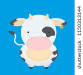 cute  little  funny the cow... | Shutterstock .eps vector #1150313144