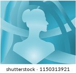 side face lady mannequin... | Shutterstock .eps vector #1150313921