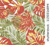 summer exotic floral tropical... | Shutterstock .eps vector #1150316894