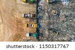 a lot of waste is disposed of... | Shutterstock . vector #1150317767