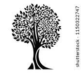 black tree silhouette. isolated ... | Shutterstock .eps vector #1150322747