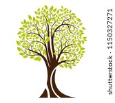 green tree silhouette. isolated ... | Shutterstock .eps vector #1150327271
