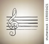 music violin clef sign. g clef. ...   Shutterstock .eps vector #1150331621