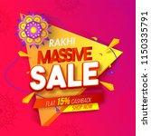 rakhi massive sale  flat 15 ... | Shutterstock .eps vector #1150335791